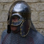 Knight chainmail and helmet